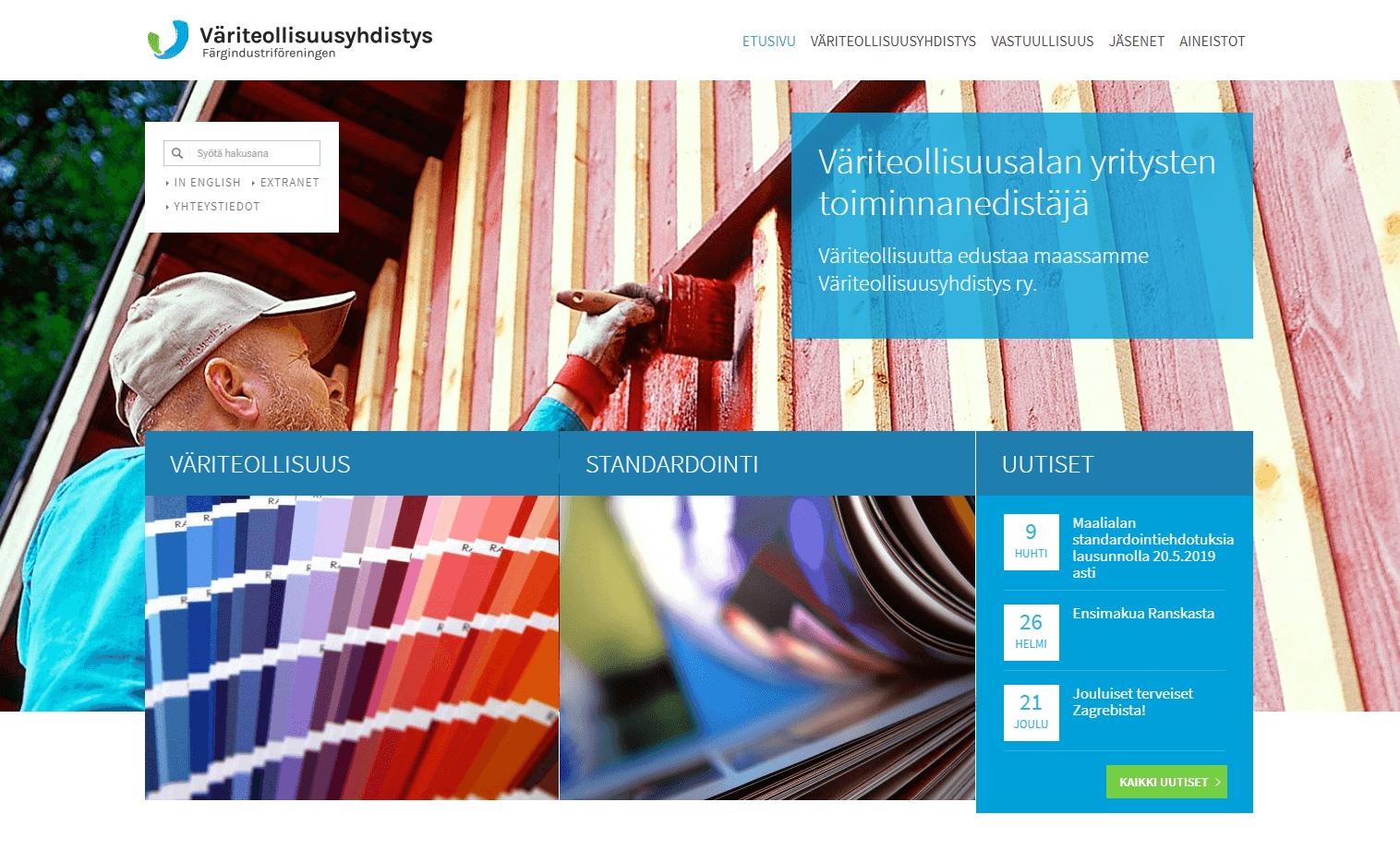 Väriteollisuusyhdistys - organisaatioilme