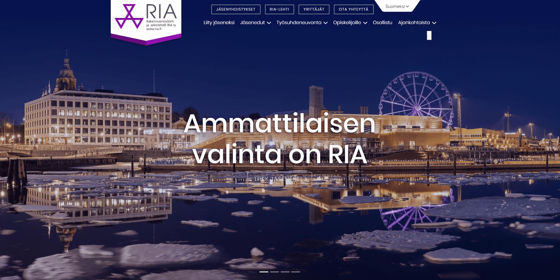 RIA verkkosivut ja yritysilme