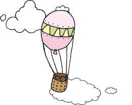 kuumailmapallo kuvituskuva