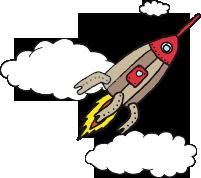 raketti kuvituskuva