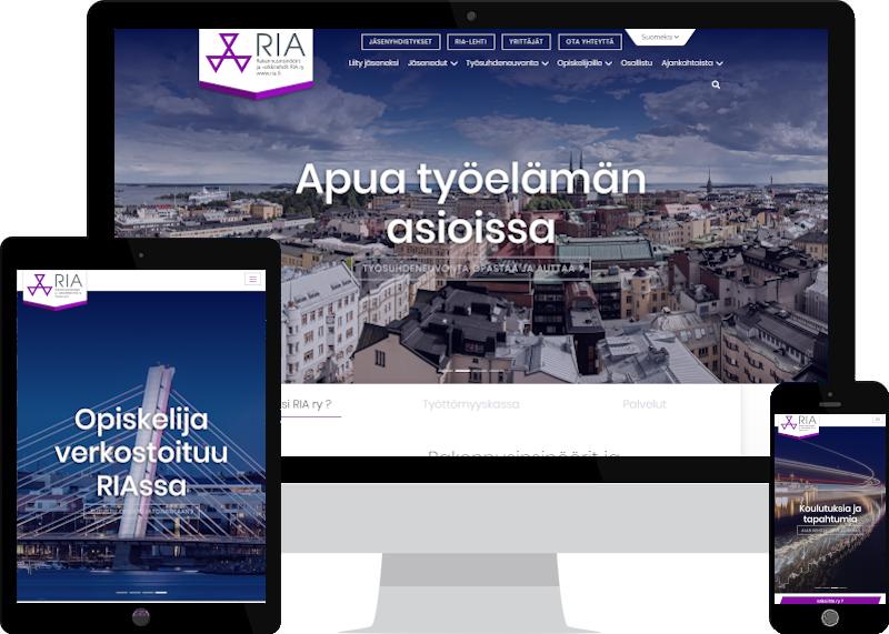 RIA ry yritysilmeen ja verkkosivuston uudistaminen