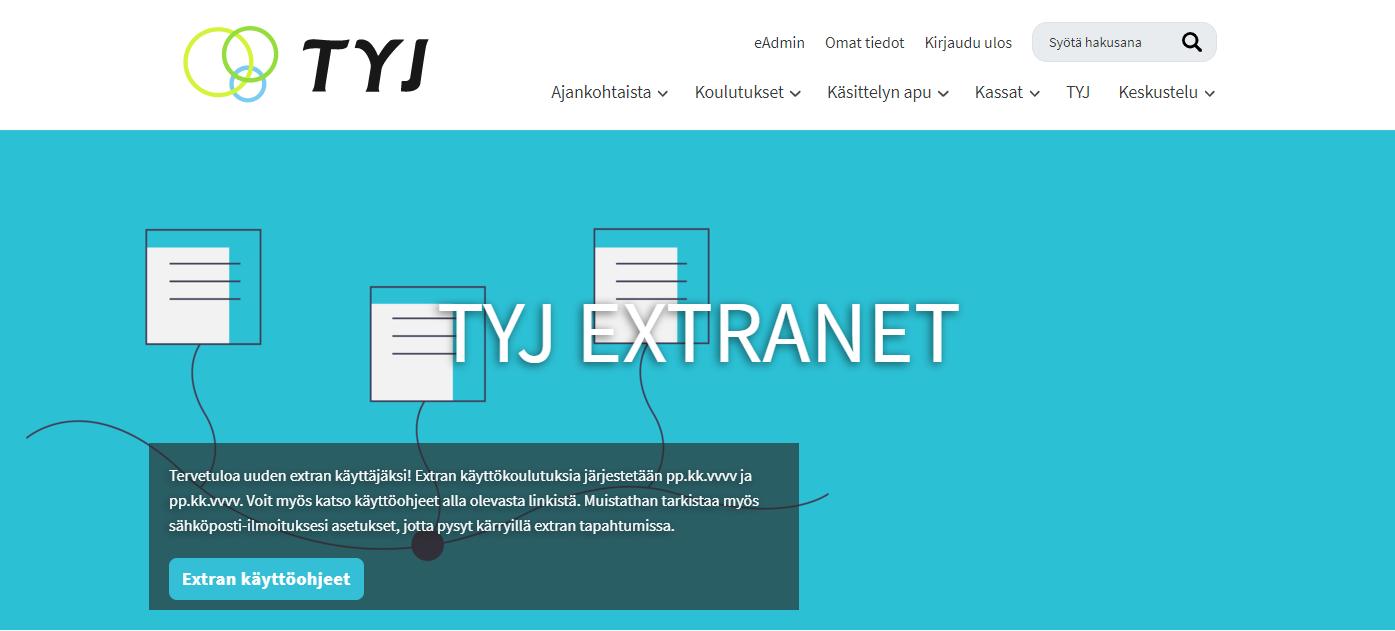 TYJ:in uudistettu extranet