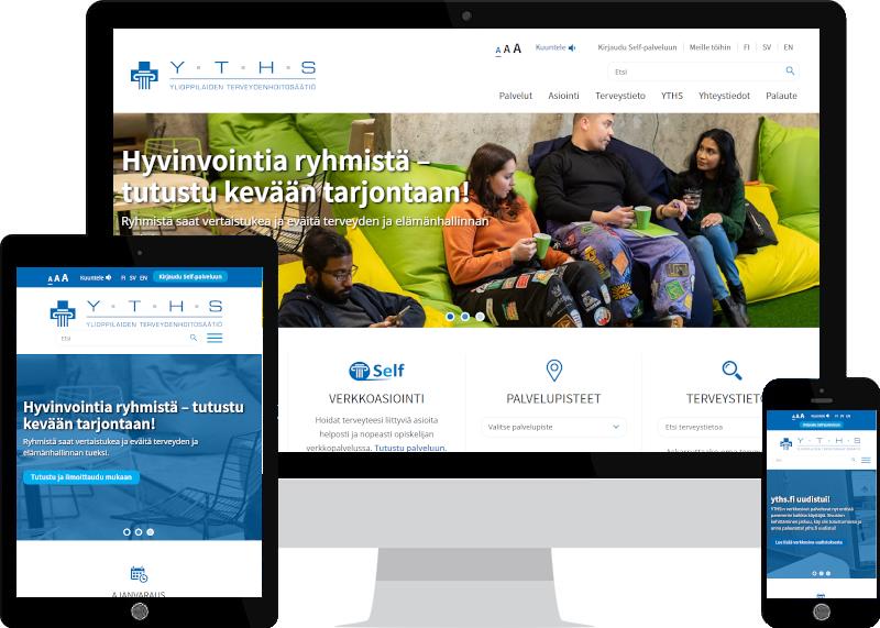 Uusi saavutettava verkkopalvelu YTHS:lle