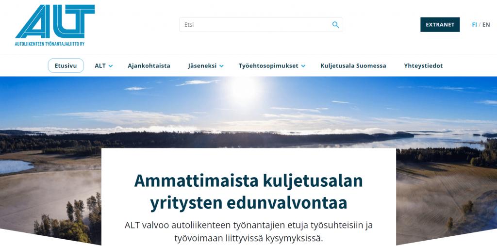 ALT.fi etusivu - yhdistyksen kotisivut