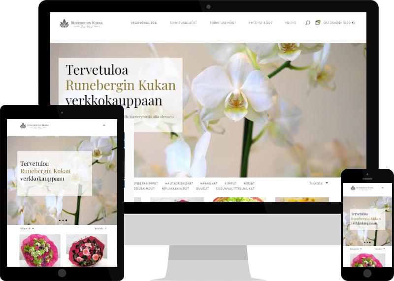 Runebergin kukka - WooCommerce-verkkokauppa