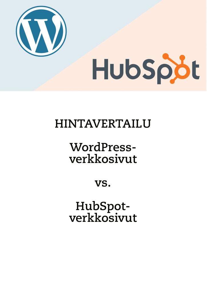 Hinnat WordPress-verkkosivut vs. HubSpot-verkkosivut