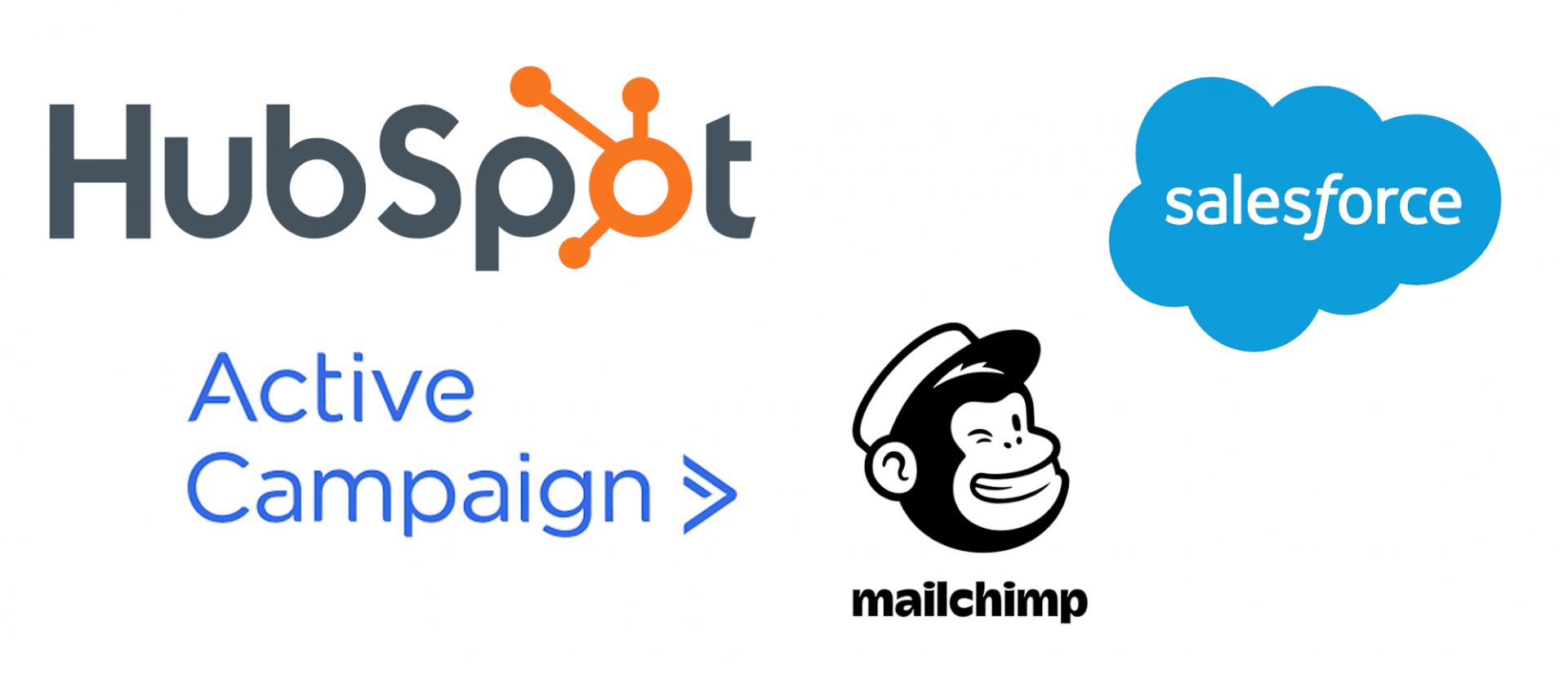 Markkinoinnin automaatio työkalut - HubSpot, ActiveCampaign, Salesforce, MailChimp