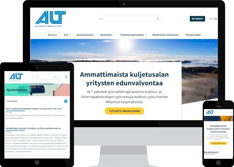 Verkkosivut ja yritysilme ALT ry:lle Verkkovaraanilta